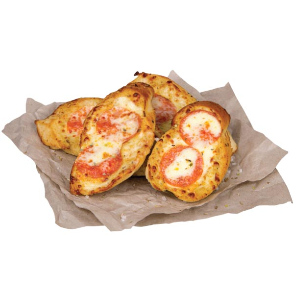 Garlic bread with Cheese and ham or pepperoni (salami)